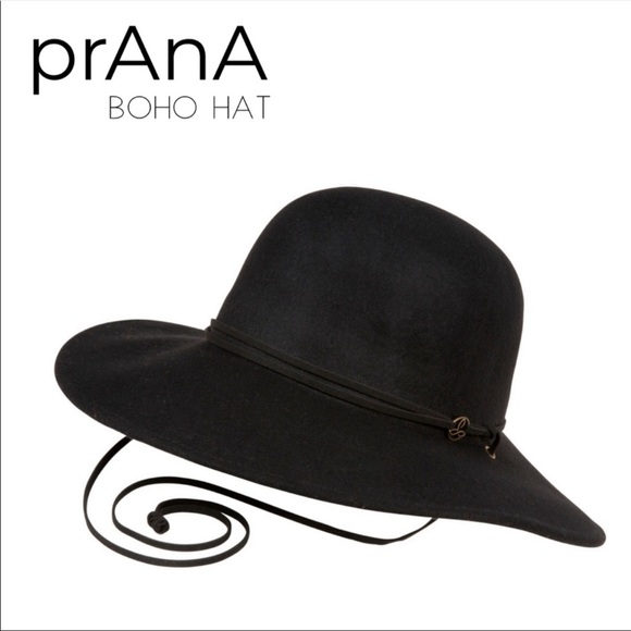 e4b805066 Prana Black Womens Boho Wool Stevie Hat